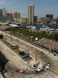 The Grand Prix downtown  Baltimore, great view of the Inner Harbor.  Still don't understand this sport.