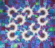 Sunflower Illusions, Quiltworx.com, Made by Certified Instructor Sue Wilson.