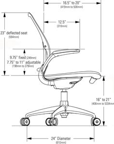 Office Chair Dimension Standards