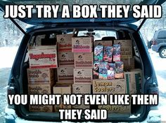 girl scout cookies, laugh, season, funni, boxes, thin mints, morning coffee, girlscout, photo galleries