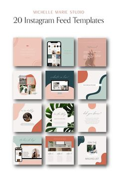 20 Instagram feed templates