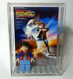 LEGO® Back to the Future Minifigure Display Case with Marty McFly - CUUSOO