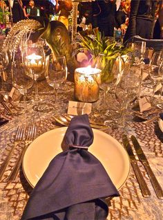 Detail, table setting by David Duncan Antiques for Lenox Hill Neighborhood House