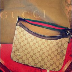 HOST PICK  100% GUCCI Bag   HOST PICK  100% authentic fabulous vintage Gucci bag. Bag has been kept in dust cloth, and is in great condition. You can no longer buy this bag --especially in this good of a condition. The only wear is a few scratches that you can barely notice on the silver part of the handles. Shown in the pictures above. Perfect bag for day or evening. You can wear this bag over your shoulder, and it really is bigger than it looks. Perfect size! Inside very clean! Fab!!!! NO…