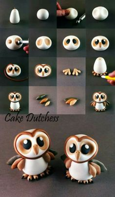 Owls fimo miniature