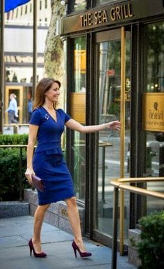 Princess Marie of Denmark opening the LEGO flagship Store in New York on 26.09.2014