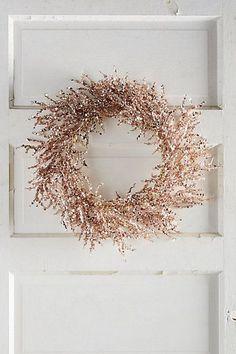 OMG gorgeous!!!!!!! Rosy Wreath #anthropologie