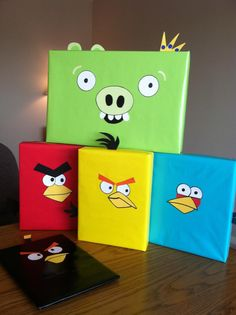 Isaac's presents for his Angry Bird Party!