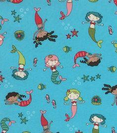 Joann's Mermaid fabric for Camille's pjs
