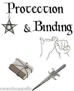 Protection Bindin Divider Wicca Book of Shadows Parchment pg Pagan Occult Spells