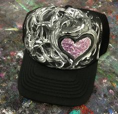 Hand painted trucker hats