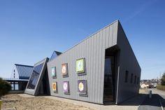 School in Percy (France) by Michel Gourion  #Architecture #VMZINC #Zinc #Facade #Façade #QuartzZinc #School #France #Project