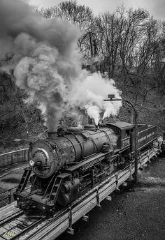 Locomotive 734 on the Turntable