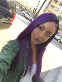 Omg this is the most gorgeous purple hair I've seen