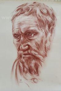 Ritratto di Michelangelo | Altamiradecor, bottega d'arte di Franco Pagliarulo