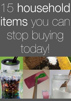 15 Household Items You Can Stop Buying Today!