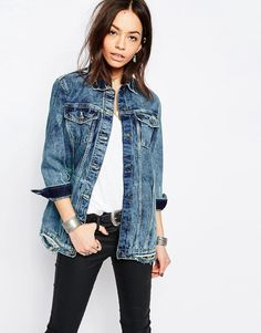 Image 1 of Only Longline Denim Jacket