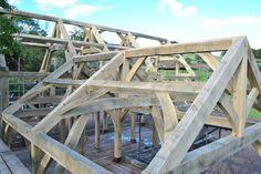 Oak framed house raising by Castle Ring Oak Frame. Welsh Borders #Wales