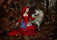 """No tan felices - """"Not so happy"""" - by Manuel de los Galane (Blanca Suarez (CAPERUCITA ROJA - Little Red Riding Hood))"""