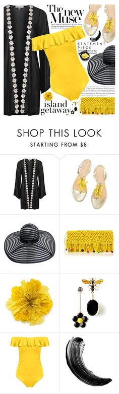 """""""Chic Island Getaway"""" by martinabb ❤ liked on Polyvore featuring Topshop and Gucci"""