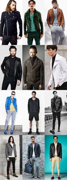 Men's Spring/Summer Biker Jacket Outfit Inspiration Lookbook