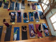 What is the Difference Between Vinyasa and Ashtanga Yoga? by earthyogi: This is a Mysore style room where everyone practices at her own level and her own time a preset series. #Yoga #Mysore