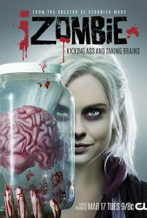 The CW's upcoming back from the dead series iZombie is showing off a new poster featuring series star Rose McIver. Izombie Tv Series, Cw Series, Series Movies, New Movies, Movies And Tv Shows, The Cw, Rose Mciver, Rob Thomas, Best Tv Shows