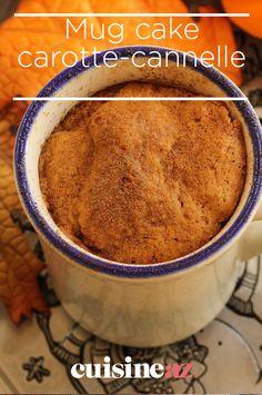 Les mug cakes sont des gâteau express cuits au micro-ondes. Celui-ci est à la carotte et à la cannelle. #recette#cuisine#mugcake#gateau #microonde#carotte #cannelle #patisserie Mug Cakes, Cake Mug, Micro Onde, Homemade Cakes, Muffin, Breakfast, Biscuits, Desserts, Muffins