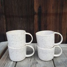 Vintage inspired gift Coffee cup mug - cappuccino mug ceramic in cream matte speckled latte Cappuccino Mugs, Latte Mugs, Tumblers, Coffee Cups, Tea Cups, Renegade Craft Fair, Vintage Coffee, Vintage Inspired, Pottery