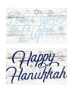 Transpac Imports Inc Hanukkah Shiplap Signs x Set of 2 Lets Get Started, Purchase History, Happy Hanukkah, Festival Lights, Sign I, Lowercase A, Save Yourself, Products, Beauty Products