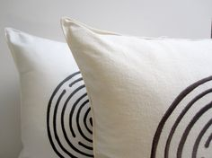 SALE embroidered maze pillow by pilosale on Etsy, $16.00