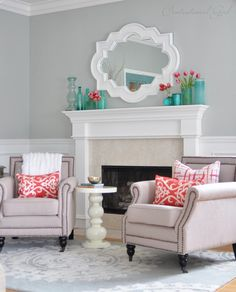 centsational girl living room ~ love the colors in this room