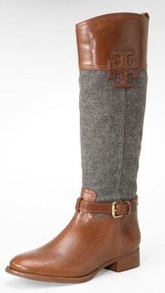 Tory Burch riding boots! These would be perfect for Fall/Winter. Love the grey and brown.