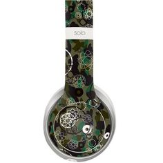 Floral Design decal for Monster Beats Solo 2 wireless headphones - Decal Design
