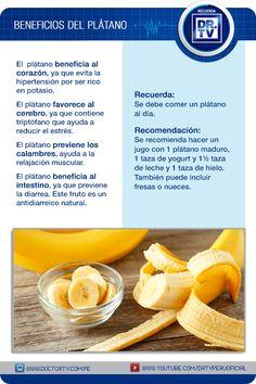 Descubra todos los beneficios del plátano.