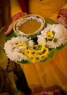 Haldi ceremony is an unavoidable part of every religious wedding because Mehendi adorns your hands and gives your life a new colour. Desi Wedding Decor, Wedding Stage Decorations, Wedding Mandap, Marriage Decoration, Wedding Crafts, Flower Decorations, Wedding Ideas, Wedding Events, Telugu Wedding