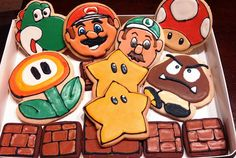 Super Mario Game Theme Decorated Cookies