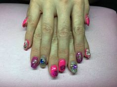 Ellis Ellis acryl gel kunstnagels folie, 3d-charms, rhinestones, thermopolish, kettinkjes