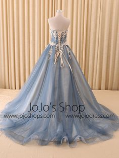 All Formal Evening Dresses – Page 7 – JoJo Shop Mermaid Evening Gown, Ball Gowns Evening, Formal Evening Dresses, Formal Prom, Blue Ball Gowns, Tulle Ball Gown, Tulle Lace, Amazing Wedding Dress, Cute Wedding Dress