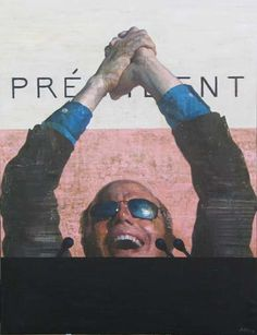 """François Bard, Président, 2009, Oil on Paper, 76¾"""" x 59"""" 