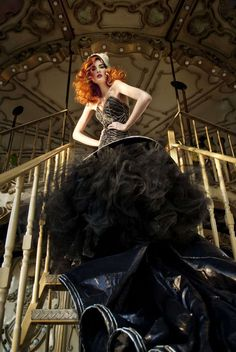 Elegant Circus Editorials - This Fashion Series Features Costume Style Clothing and a Merry Go Round (GALLERY)