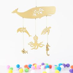 Ocean Baby Mobile // Baby's Crib Mobile // Sea Creature  #makersonhudson