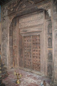 Wooden door 'for sale'