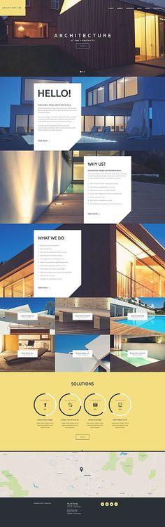 Template 53109 - Architecture Company  Responsive WordPress  Theme
