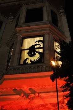 2015 Halloween oogie boogie window decoration ideas that you should learn - silhouette - LoveItSoMuch.com