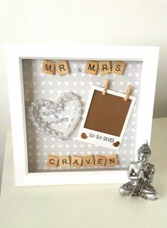 Wedding Frame Anniversary Gift Present Personalised Mr And Mrs Gifts For S Scrabble Art Newlywed
