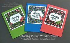 Pretty Petals Paper Stack Trio of QC Cards