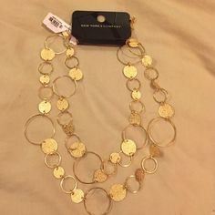 Gold necklace Very fashionable New York and Company gold necklace you can wear it different ways New York & Company Jewelry Necklaces