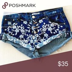NWT Floral Embroidered Jean Shorts Brand new! Brand is Glamorous, purchased at Nordstrom! Perfect for summer. Nordstrom Shorts Jean Shorts