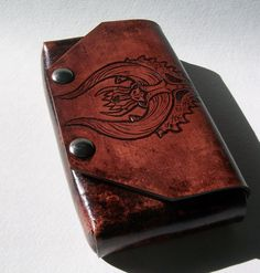 Custom Tooled Leather Monster Hunter Nintendo 3DS Case